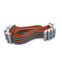 Cable plano 20P IDC Rainbow