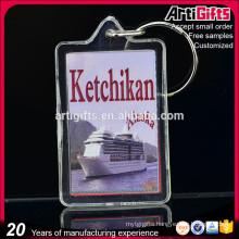 Artigifts Cheap Custom Shape Acrylic Photo Frame key ring
