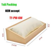 Caja blanca del soporte del reloj del cuero beige (TY-PW-GW)
