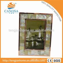 Эко дружественных Золотая перламутровая рамочная фотография с золотым лезвием