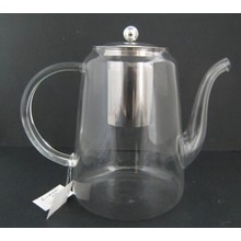 Bule de vidro de borossilicato com infusor de aço inoxidável