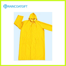 Waterproof PVC Polyester Men′s Raincoat