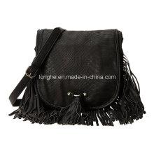Designer Front Fringe Fashion Ladies Shoulder Bag (ZXS0050)