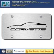 ISO 9001 passed custom stainless steel license plate