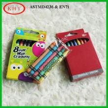 12 Colors Wax Crayon with Box Set