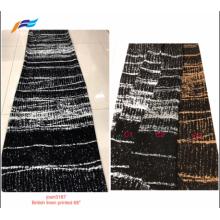 Formeller schwarzer bestickter Abaya-Stoff des britischen Leinendrucks