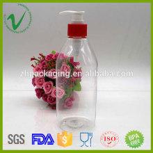 Цилиндр прозрачный 500 мл жидкий мыльный пластик бутылка с насосом бытовая