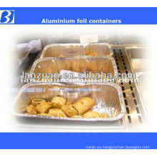 Recipientes desechables de alimentos papel de Aluninum