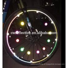 brilho na venda total de buracos Refletor de rodas de bicicleta