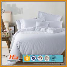 Capa de edredão branca para casa de hotel com zíper