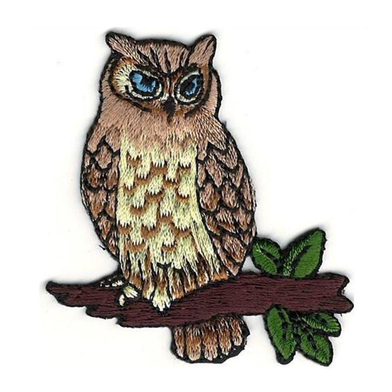 Realistic Owl Halloween Embroidery Patch