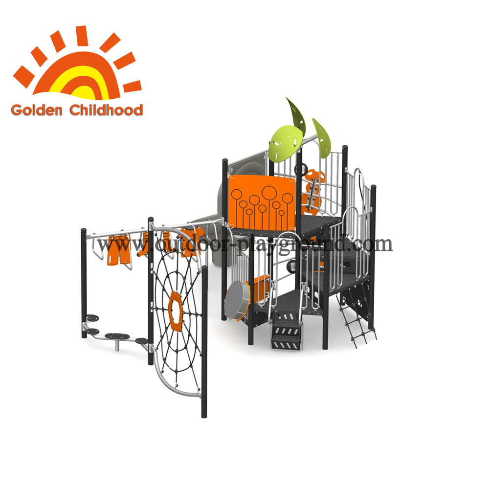 Orange Outdoor Playground Equipment For Fun
