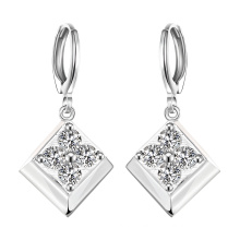 Fashion 925 Silver Plated Zircon Earring Diamond Pendant Earring