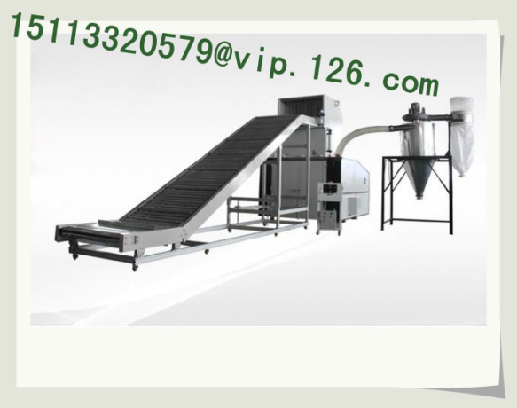 Large plastic crushing, automatic powder sifting and recycling line