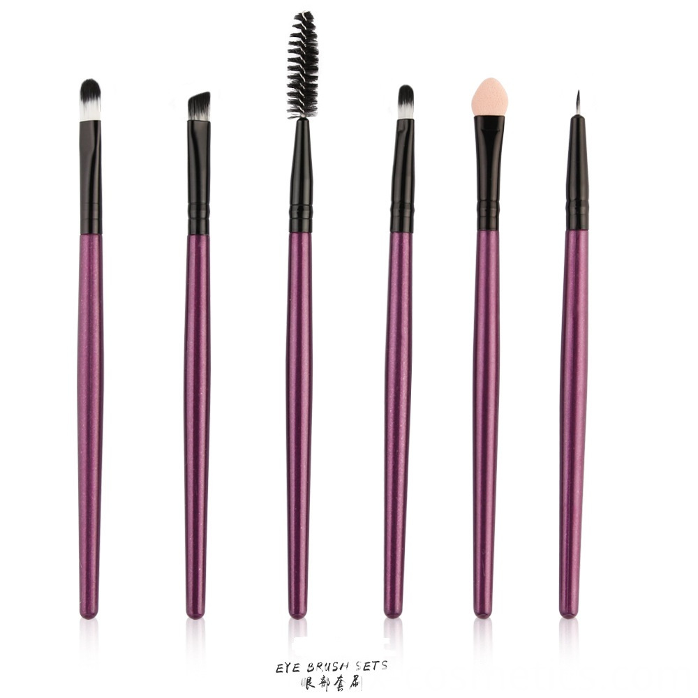 6 Piece Eye Makeup Brushes Set 8