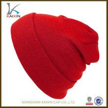 оптовая пользовательские популярные горячая распродажа высокое качество пустой вязаная шапка Снежная шапка