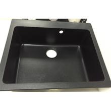 China Hersteller Square Single Bowl Granit Waschbecken (HB8208)