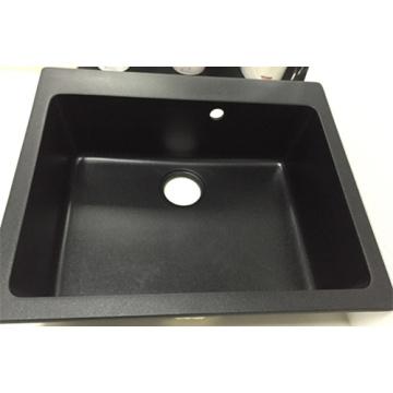 Pia do granito de tigela única China fabricante quadrado (HB8208)