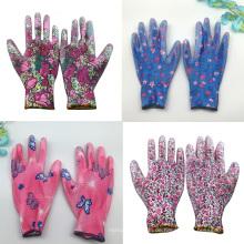 Hohe Qualität 10G Polyester / Nylon Liner Nitril halbbeschichtet Gartenarbeit Handschutz Arbeitshandschuh