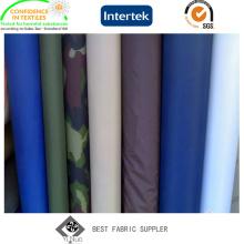 PVC Coated 100% Polyester 190t Taffeta Raincoat Fabric with Military Printed