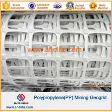 Geomalla de extracción de PP de color blanco con ignífugo