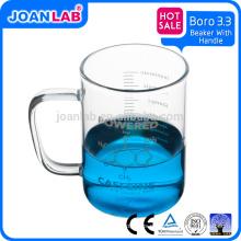 Лаборатории Джоан 200мл Borosil 3.3 стеклянный стакан с ручкой для лабораторной посуды
