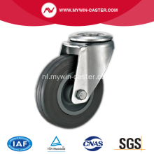 3 '' Hollow Rivet Swivel Grey Rubber PP Core Industrial Caster
