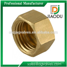 best sale competitive price customized 1/2 inch yellow brass color forged cw617n brass metal nut
