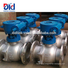 Automated Flanged Stainless Steel Welded Welding Motorized 1 Inch Pneumatic Actuated Ball Valve