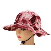Oem en gros concevoir votre propre logo personnalisé motif imprimé de haute qualité à bas prix chapeau de seau avec chaîne