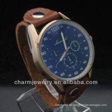 Reloj del cuero del estilo de los deportes de la manera Reloj WL-040 del cuero de la venta al por mayor