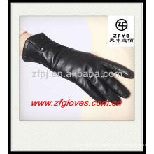 Singal Snap Damen kleiden Lederhandschuhe