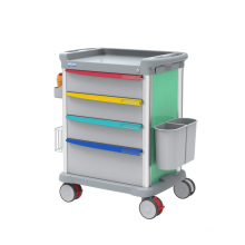 multifunctional abs medical nurse anesthesia trolley cart with wheels