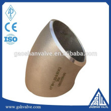 stainless steel 45 degree long radius pipe elbow