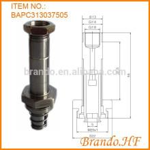 2 posiciones Armario de válvula electromagnética de tubo de acero inoxidable normalmente cerrado de 3 vías