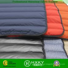 Dos capas de llenado directo sin costura a prueba de chaqueta abrigo de tela
