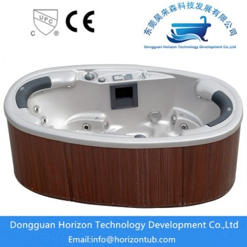 oval shape 2 seats spa hot tub