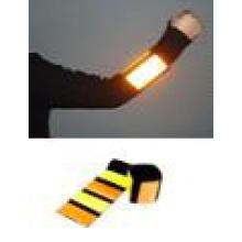 LED Reflective slap wrap elastic security reflective armband