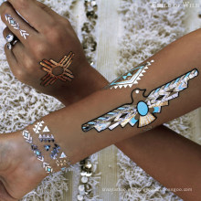 Tatuaje de henna personalizado tatuaje temporal metálico