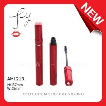 Fashion Unique Shape Red Aluminium Mascara Tube