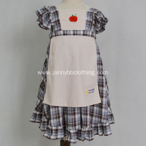 Boutique check embroidery baby girl dress