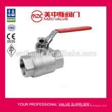 2PC Stainless Steel Ball Valves Screw Ends 1000WOG Industrial Ball Valves