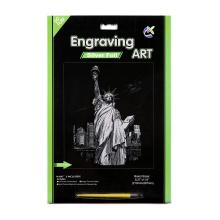 Papier Handwerk Spielzeug silberne Statue Liberty Rubbelkarten