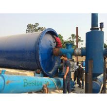 Venta caliente fácil de usar pequeño caucho / máquina de pirólisis de plástico loco fabricante de aceite