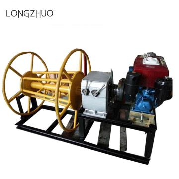 Diesel Engine Powered Winch Untuk Cable Tarik