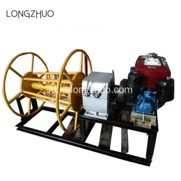 Shafted Didorong Diesel Menarik Kabel Winch