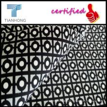 Floral impresso tecido cetim/Spandex maciez listra estofos cetim tecido de algodão/lycra cetim personalizado para Uniqlo