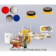 Gire la tapa Línea de fabricación de la tapa del frasco de vidrio