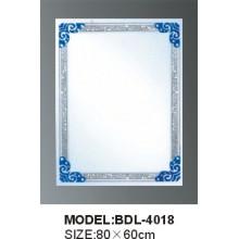 Espejo de baño de vidrio de plata de 5 mm de espesor (BDL-4018)