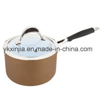 Utensílios de cozinha 16 centímetros de alumínio Ceramic Coating Milk Pot, panelas